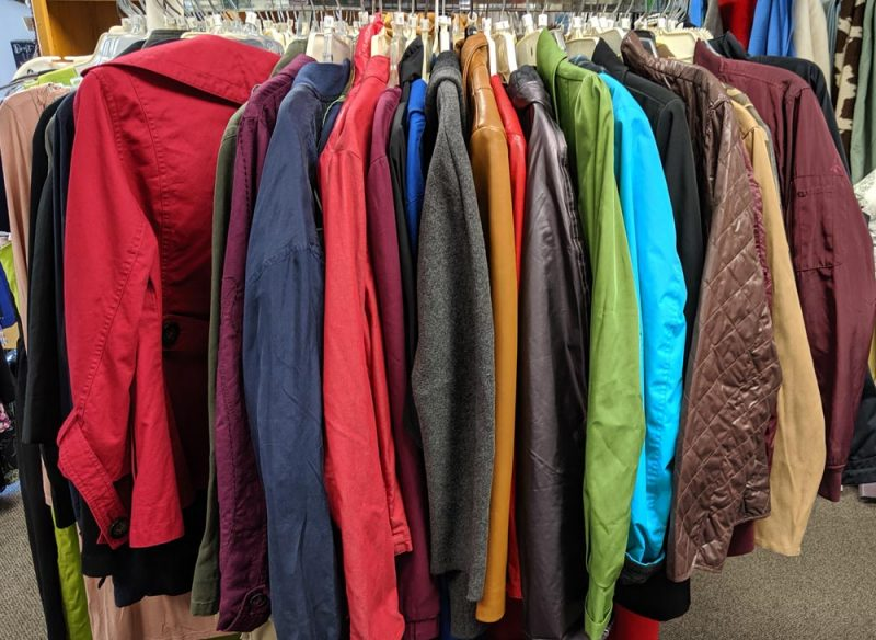 Hearts for the Homeless Thrift Shop fall jackets