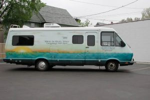 Hearts for the Homeless second motorhome, purchased in 1999
