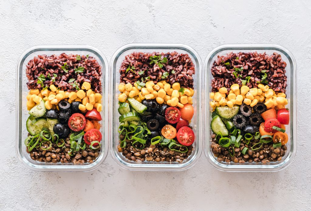 3 pre-made meals in containers