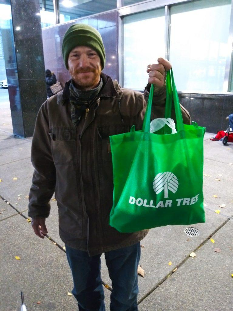 Man holding a bag